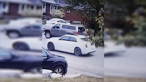 White suspect car