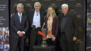 From left to right: Tom Renney, George Kingston, Jayna Hefford, Ken Hitchcock