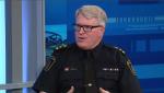 Waterloo Regional Police Chief Bryan Larkin in the CTV Kitchener studio.
