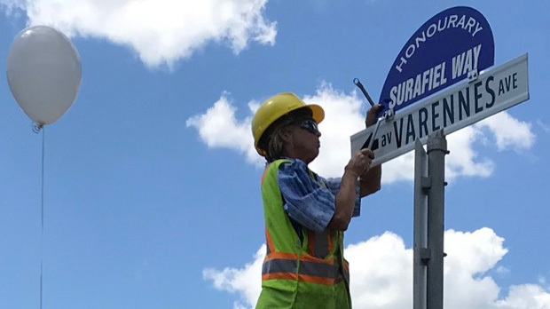 The city agreed to give a portion of Varennes Avenue the honorary name after Surafiel Tesfamariam 's parents made the request as a memorial to their son. (Josh Crabb/CTV News)
