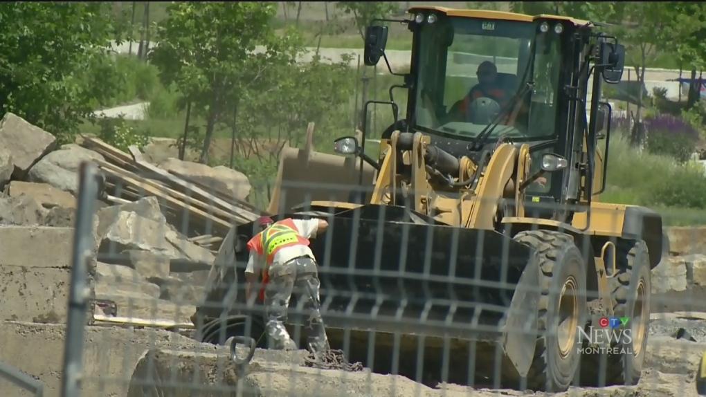 Crews frantically working to open Verdun Beach this weekend