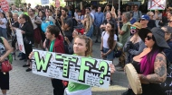 Anti-pipeline protest in downtown Vancouver