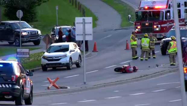 Motorcyclist in critical condition following southwest crash
