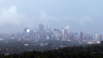 An early morning thunderstorm rolled through the city on Wednesday morning.