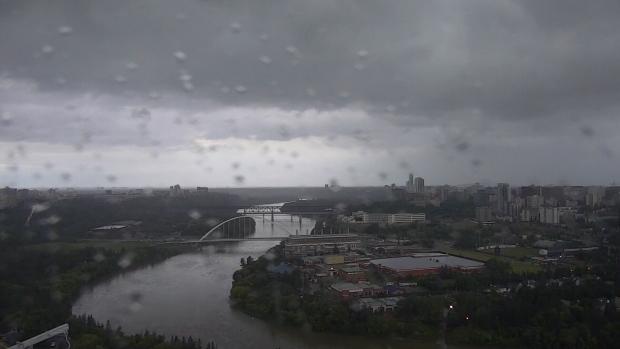 Thunderstorm in Edmonton on June 19, 2019.