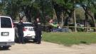 Winnipeg police are investigating a suspicious death in Point Douglas. CTV photo/Scott Andersson