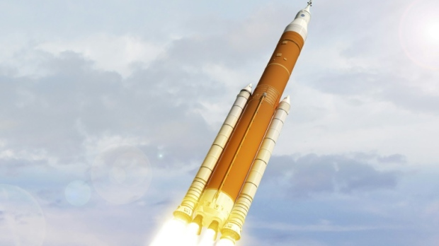 NASA's February 2018 artist concept image shows the next generation of NASA's Space Launch System