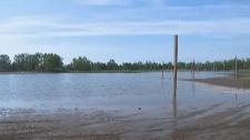 Woodbine Beach, flooding