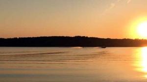 Sunset at Rossman Lake. Photo by Betty Budz.