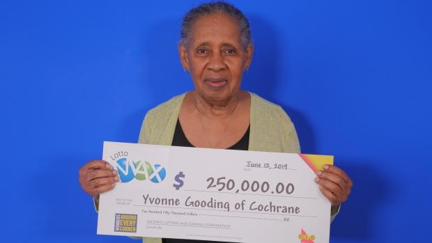 Yvonne Gooding of Cochrane wins $250,000