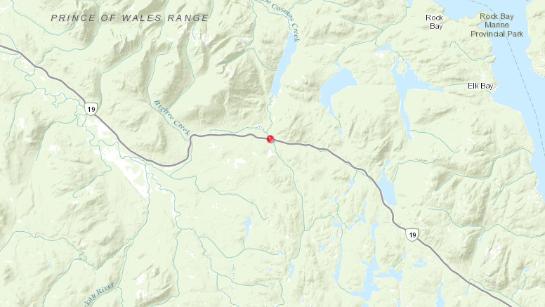 According to interactive maps on the B.C. Wildfire Service website Wednesday morning, the fire is only 0.25 hectares and is considered new. (B.C. Wildfire Service)