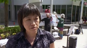 May Chiu is leading people conducting hunger strikes against Bill 21