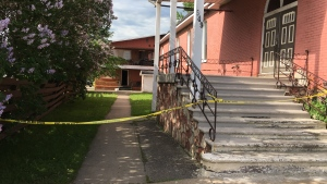 Fatal fire happened in building behind a Sault Ste. Marie church (Nicole Di Donato/CTV Northern Ontario)
