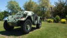 A Ferret Scout Car, used by the Canadian military, is seen at the Sackville Memorial Park in Sackville, New Brunswick on Wednesday, June 19, 2019. (THE CANADIAN PRESS/Andrew Vaughan)