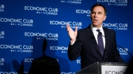 Finance Minister Bill Morneau addresses an Economic Club of Canada breakfast in Calgary, Wednesday, June 19, 2019.THE CANADIAN PRESS/Jeff McIntosh