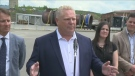 Full and raw video of Ontario Premier Doug Ford talking to the media during his visit to a steel fabrication company in Sudbury's community of Coniston.