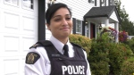 Insp. Wendy Mehat of Surrey RCMP says its easy to get sloppy when it comes to home security in the long summer months. (CTV News)