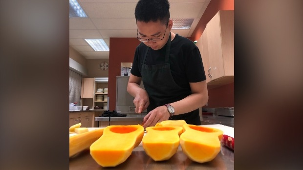 Nathan Kow is hoping his love for food will one day land him a steady job. (Stu Gooden / CTV Kitchener)