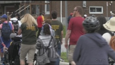 Law enforcement Torch Run in North Bay