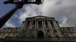 The Bank of England in central London, on Nov. 25, 2009. (Lefteris Pitarakis)