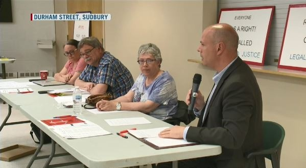 Sudbury MPP Jamie West hosts town hall to discuss Legal Aid funding cuts. (CTV Northern Ontario)