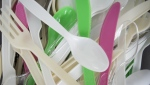 Plastic cutlery is pictured in North Vancouver, B.C. on June, 10, 2019. THE CANADIAN PRESS/Jonathan Hayward