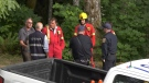 One teenager is dead and another is in hospital after a tree toppled on them at Camp Barnard near Sooke.