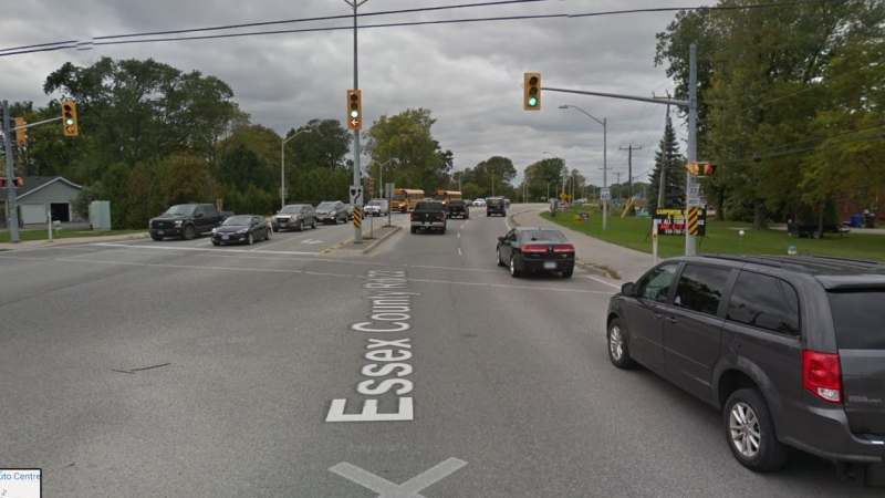 Essex County Road 22 at East Puce Road in Lakeshore, Ont. (Courtesy Google Maps)