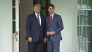 Trudeau greeted by Trump at the White House