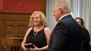 "MacLeod claims to be ""minister of cheers"" in first big speech since"