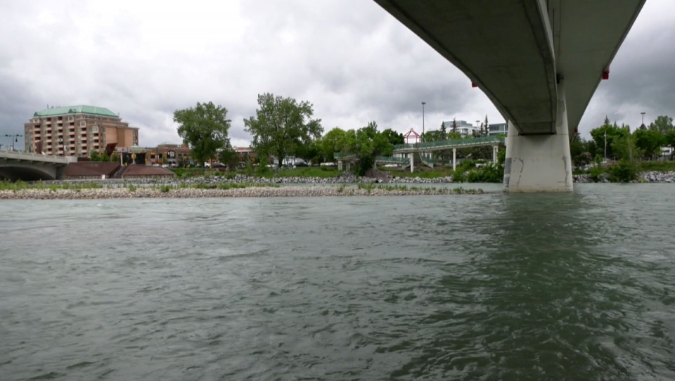 Calgary officials are advising residents to stay off the Bow and Elbow Rivers because the water is moving very quickly.