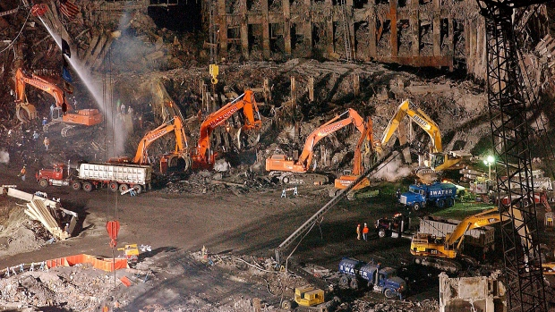 9/11 cleanup file photo from Nov. 11, 2001