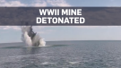 Abandoned Second World War mine detonated at sea