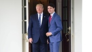 Prime Minister Justin Trudeau is greeted by U.S. President Donald Trump as he arrives to the White House in Washington, D.C. on Thursday, June 20, 2019. THE CANADIAN PRESS/Sean Kilpatrick