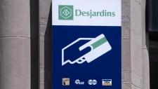 Caisse populaire Desjardins sign