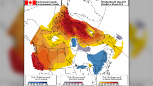 Central Canada is predicted to have cooler than normal temperatures this summer, according to Environment Canada. Things may be slightly warmer than usual in the Maritimes, but the hottest part of the country is predicted to be the western provinces. (Environment Canada)