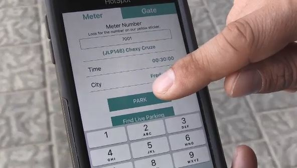 Sudbury's new HotSpot Parking app (Ian Campbell/CTV Northern Ontario)