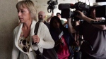 Renata Ford arrives at Mount Sinai Hospital in Toronto, Wednesday, Sept.17, 2014. Toronto police say the widow of late Toronto mayor Rob Ford has been arrested and charged with impaired driving. THE CANADIAN PRESS/Nathan Denette