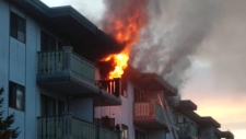 Saanich apartment fire
