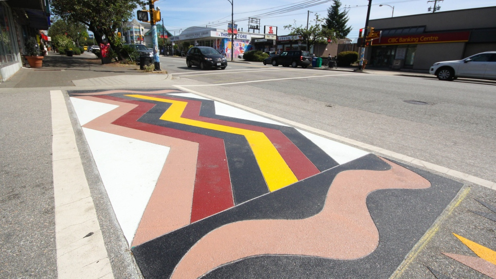 What's behind the colourful crosswalks in Marpole? | CTV News