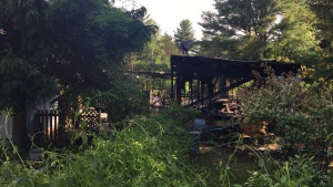 Fire destroyed a mobile home at the Reflections RV Park in Springwater Township on Thursday, June 20. (Springwater Fire & Emergency Services)