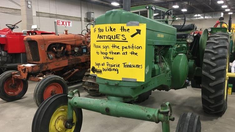 antique tractors at Farm Progress