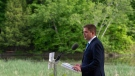 Conservative Leader Andrew Scheer delivers a speech on the environment in Chelsea, Que. Wednesday June 19, 2019. THE CANADIAN PRESS/Adrian Wyld