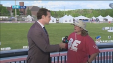 Weather Will live from Sudbury's Relay for Life