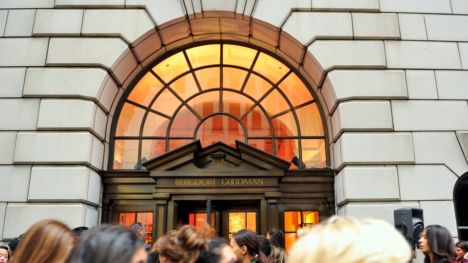 This Sept 10, 2010, file photo shows people lining up to enter the Bergdorf Goodman store, in New York. E. Jean Carroll, a New York-based advice columnist claims Donald Trump sexually assaulted her in a dressing room at a Manhattan department store in the mid-1990s. (AP Photo/Stephen Chernin, File)