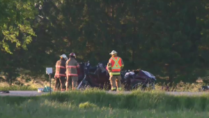 Police are at the scene of a triple fatal crash north of Listowel. (Courtesy: OPP)