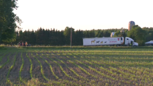 A minivan and tractor trailer collided at Line 88 and Perth Road 178. (June 21, 2019)