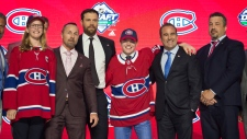 Montreal Canadiens select Cole Caufield during the first round NHL draft at Rogers Arena in Vancouver, Friday, June, 21, 2019. THE CANADIAN PRESS/Jonathan Hayward