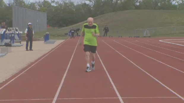 Lou Billinkoff, 96, ran the 50-metre sprint in 15.68 seconds on Saturday. (File image)