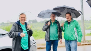Premier Scott Moe participated in his first Pride Parade in Saskatoon on Saturday, June 22, 2019. (Source: Saskatchewan Party)